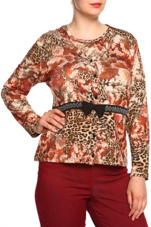Комплект: блуза, жакет Elisa Fanti. Цвет: терракотовый