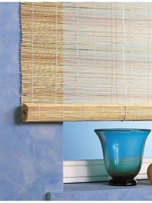 Бамбуковые рулонные шторы, натур, размер: 140х160 Эскар. Цвет: бежевый
