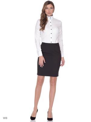 Рубашка женская манжет под запонки WHITE CUFF. Цвет: белый