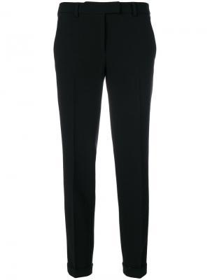 Зауженные укороченные брюки Alberto Biani. Цвет: чёрный