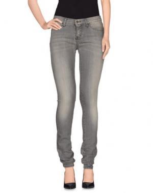 Джинсовые брюки VINTAGE 55. Цвет: серый