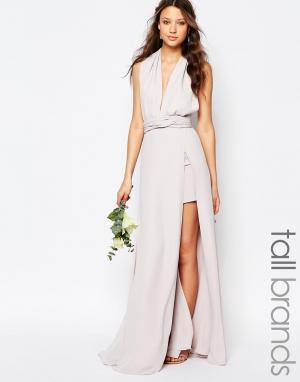 Fame and Partners Tall Платье--трансформер Ainsley. Цвет: серый
