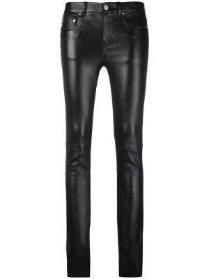 Байкерские брюки скинни Saint Laurent. Цвет: чёрный