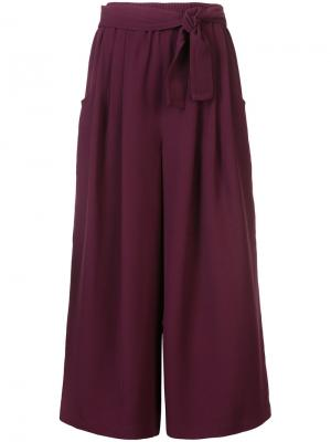 Укороченные брюки-палаццо Tome. Цвет: розовый и фиолетовый