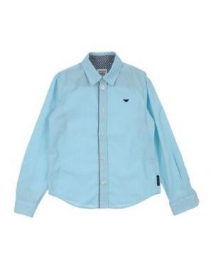Pубашка ARMANI JUNIOR. Цвет: небесно-голубой