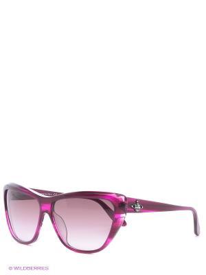Солнцезащитные очки VW 817 02 Vivienne Westwood. Цвет: розовый