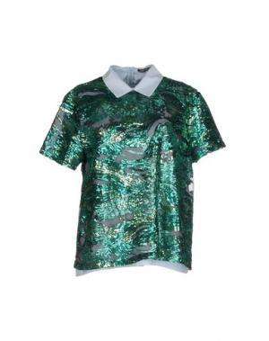 Блузка NINEMINUTES. Цвет: зеленый