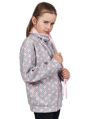 Куртка флисовая 220 МИКИТА. Цвет: серый, светло-серый, розовый