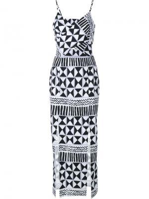 Платье Rebecca с вырезными деталями Tata Naka. Цвет: чёрный