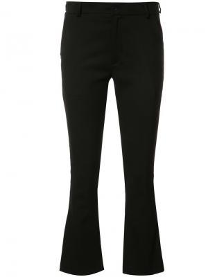 Укороченные брюки Toteme. Цвет: чёрный