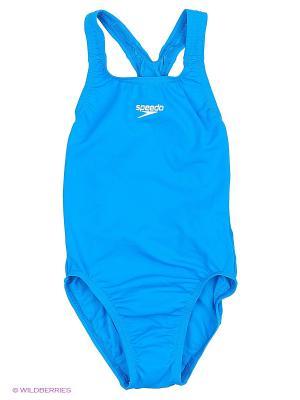 Слитные купальники Speedo. Цвет: голубой