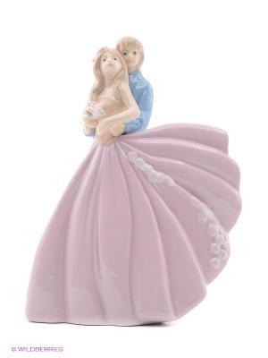 Статуэтка Влюбленная пара Русские подарки. Цвет: белый, кремовый