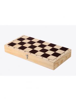 Шахматы средние Нарды. Цвет: темно-коричневый, темно-бежевый