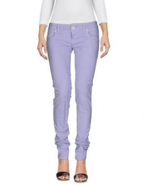 Джинсовые брюки 2W2M. Цвет: сиреневый