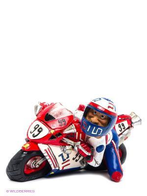 Мотоцикл Pilo The Comical World of Stratford. Цвет: красный, белый, черный, синий