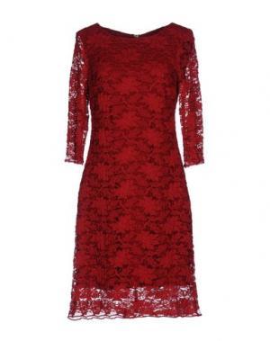 Короткое платье CARLA MONTANARINI. Цвет: красный
