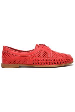 Туфли летние Sandm. Цвет: красный