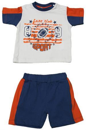 Костюм: футболка и шорты Bimbus. Цвет: синий