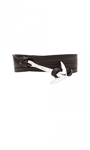Браслет anchor silver Miansai. Цвет: черный