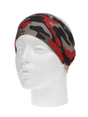 Повязка на голову Infiniti. Цвет: серый, красный, черный