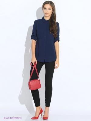 Блузка Oodji. Цвет: темно-синий, черный