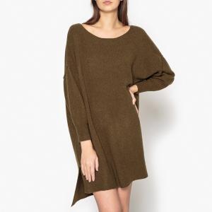 Платье-пуловер DAM AMERICAN VINTAGE. Цвет: хаки
