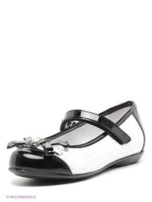 Туфли ELEGAMI. Цвет: светло-серый, черный