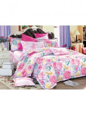 Комплект постельного белья ROMEO AND JULIET. Цвет: светло-зеленый, фиолетовый, светло-желтый, розовый