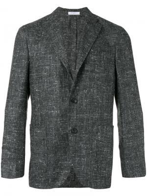 Тканый пиджак Boglioli. Цвет: серый