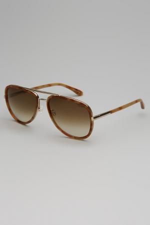 Очки солнцезащитные TRUSSARDI DAL 1911. Цвет: коричневый