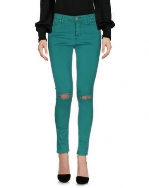 Повседневные брюки PLEASE. Цвет: зеленый