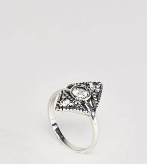 Rock 'N' Rose Серебряное кольцо с лунным камнем N. Цвет: серебряный