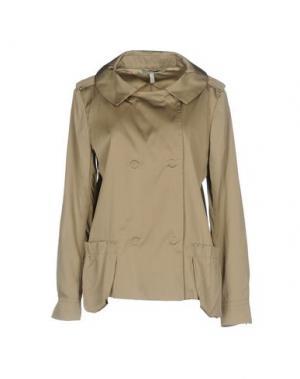 Легкое пальто AQUILANO-RIMONDI. Цвет: хаки