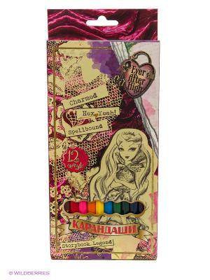 Карандаши цветные Ever After High, 12 цветов Centrum. Цвет: бежевый