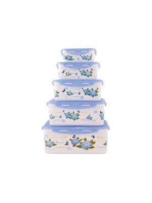 Набор контейнеров прямоугольных  Синий PATRICIA. Цвет: синий