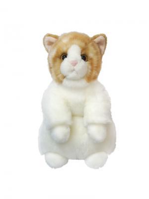 Мягкая Игрушка Котик MAXITOYS. Цвет: светло-коричневый, белый