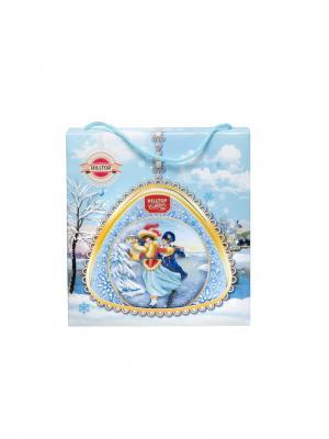 Чай Hilltop Традиции Цейлона 80г медальончик Снежная миниатюра в футляре. Цвет: черный