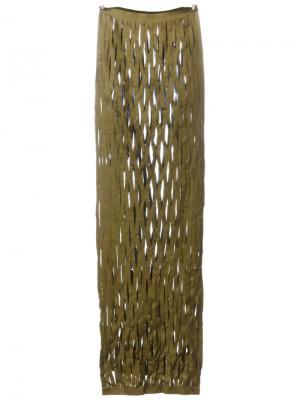 Сетчатый шарф Ma+. Цвет: зелёный