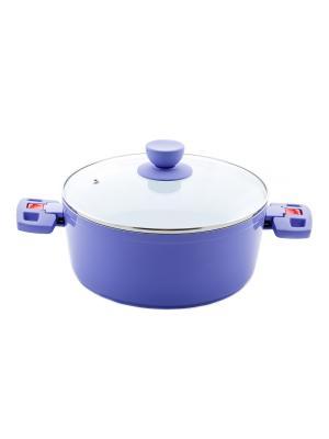 Кастрюля Elff Ceramics. Цвет: фиолетовый
