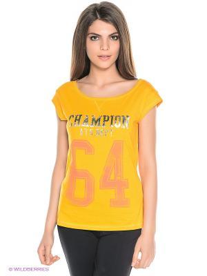 Футболка CREWNECK CHAMPION. Цвет: желтый