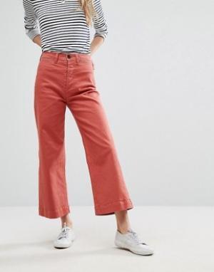 MiH Jeans Укороченные джинсы с широкими штанинами M.i.h Caron. Цвет: красный