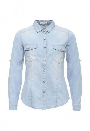 Рубашка джинсовая Coco Nut. Цвет: голубой