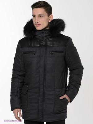 Куртка ABSOLUTEX. Цвет: серый, черный
