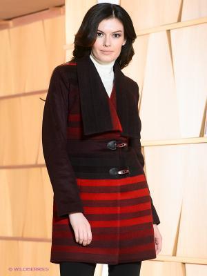 Пальто Klimini. Цвет: красный, бордовый