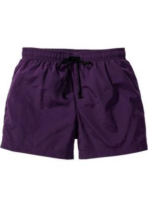 Купальные плавки-шорты Regular Fit (темно-лиловый) bonprix. Цвет: темно-лиловый