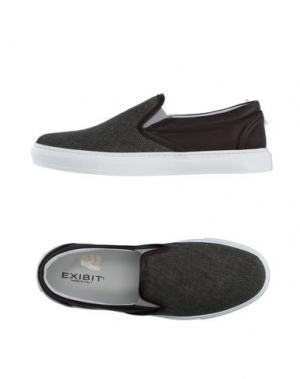 Низкие кеды и кроссовки EXIBIT. Цвет: темно-зеленый