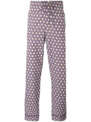 Пижамные брюки с рисунком Otis Batterbee. Цвет: коричневый