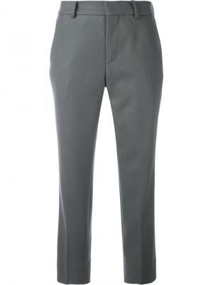 Укороченные брюки строгого кроя 08Sircus. Цвет: серый