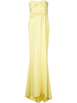 Расклешенное вечернее платье Boutique Moschino. Цвет: жёлтый и оранжевый