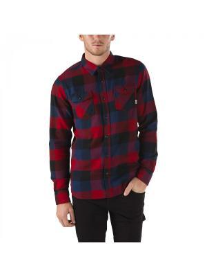 Рубашка BOX FLANNEL VANS. Цвет: красный, коричневый, синий